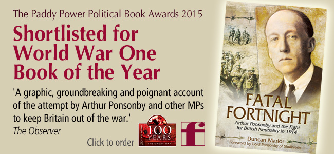 Fatal Fortnight WW1 Book of the Year