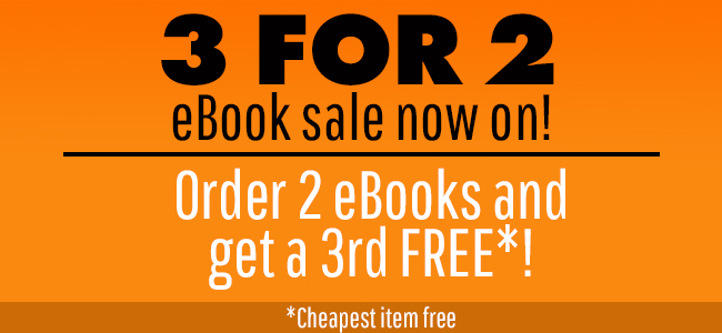 3 for2 eBook sale now on