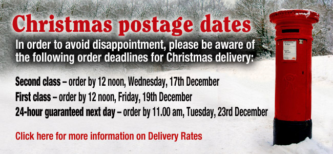Christmas postage dates