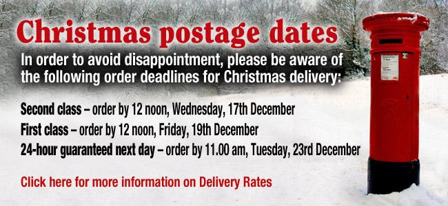 Christmas postage dates