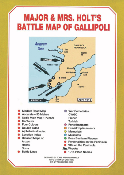 Major & Mrs Holt's Battle Map of Gallipoli
