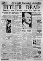 Hitler Dead, News Chronicle, May 2, 1945