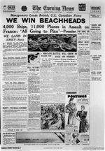 D-Day, The Evening News, June 6, 1944