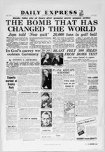 Atomic Bomb, Daily Express, August 7, 1945