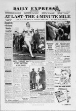 Four Minute Mile, Daily Express, May 7, 1954