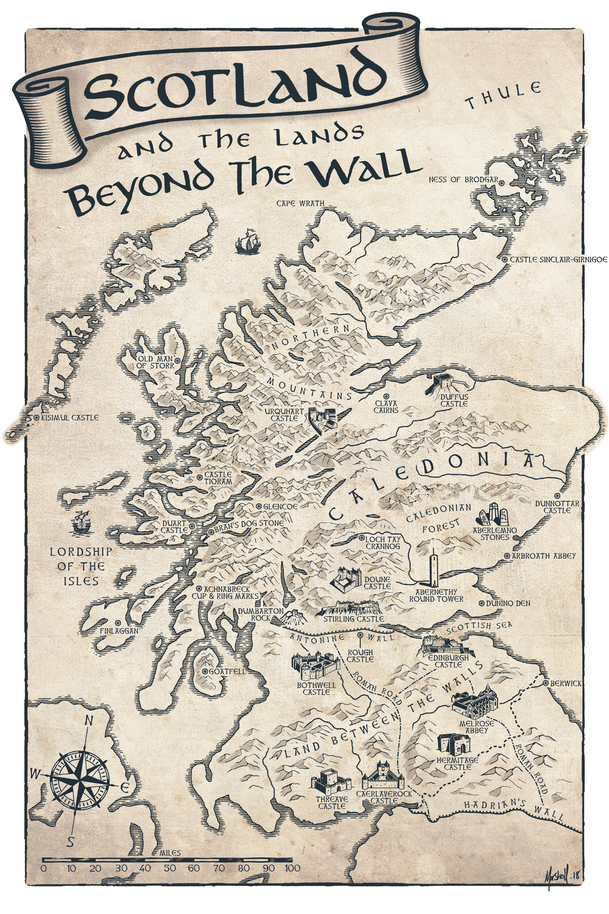 Scotland And The Lands Beyond the Wall Map